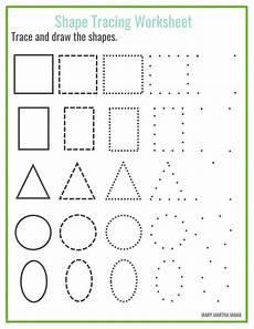 free shape tracing printables shape tracing worksheets shape worksheets for preschool shapes