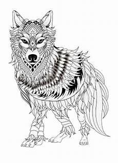 wolf 10 ausmalbilder f 252 r erwachsene