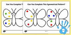 patterns eyfs worksheets 78 complete a symmetrical butterfly pattern fingerprint worksheet worksheet