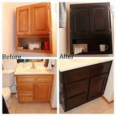 Bathroom Ideas Oak Cabinets by Staining Oak Bathroom Cabinets Decor Projects Oak