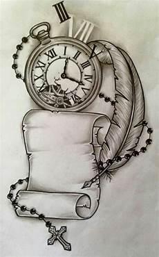 dessin de tatouage zeitlos kunst t 228 towierungen uhr vorlagen und