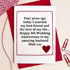 4th Wedding Anniversary Gift Ideas For Husband