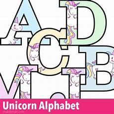 unicorn letters to print free printable alphabet make breaks
