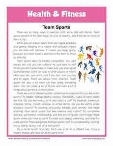 sports health worksheets 15805 team sports health and fitness reading comprehension worksheet teaching