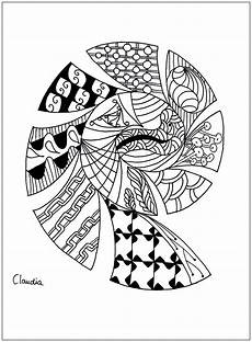 zentangle simple zentangle coloring pages