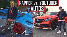auto mit i youtuber vs rapper wer hat die besseren autos apored