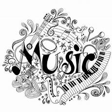 printable coloring page zentangle music coloring book