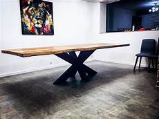 table 224 manger pied central bois massif cr 233 ation sur