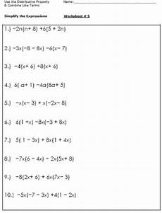 multiplication worksheets 10th grade 4917 algebra worksheets for simplifying the equation with images simplifying expressions algebra