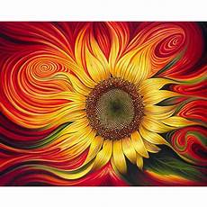 malen nach zahlen abstrakte sonnenblume malen nach