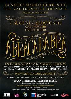 azienda di soggiorno brunico abracadabra brunico abracadabra show