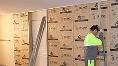 isolation thermique des murs intérieurs doubler un mur en placo sur rail id 233 es d 233 coration