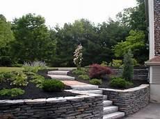 Granit Naturstein Mauer Erstellen Gartenbau Steinmauer