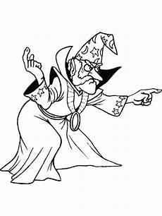 magier zauberer ausmalbilder malvorlagen animierte