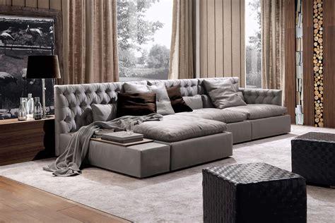 Leather Sofa By Frigerio Salotti