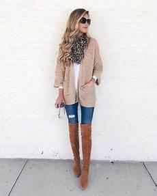 Braune Overknee Stiefel F 252 R Damen Kombinieren Modetrends