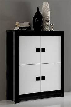 bar design pisa laquee bicolore noir blanc noir blanc
