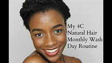 my 4c natural hair full monthly wash day routine youtube