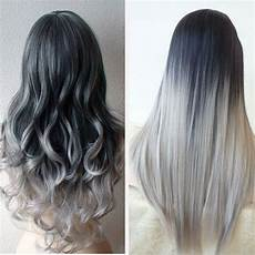 5 Seller Black To Grey Ombre Hair Extensions Silver