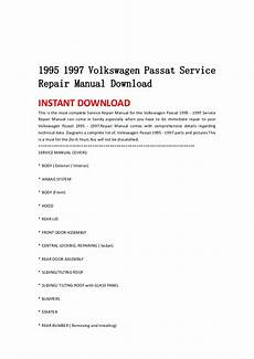 auto repair manual free download 1993 volkswagen passat seat position control 1995 1997 volkswagen passat service repair manual download