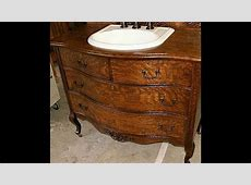 antique dresser bathroom vanity   YouTube
