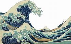 Japanisches Bild Welle - transparent