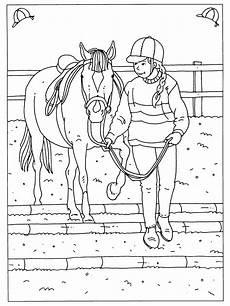 je paard leren hindernissen te nemen coloring