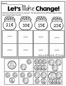 count the coins cut and paste to make change 2 different