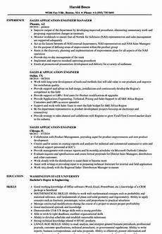 resume sle aplication enginer sales application engineer resume sles velvet
