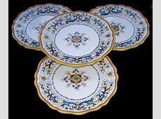 DERUTA POTTERY RICCO ANTICO PATTERN DINNER PLATES   eBay