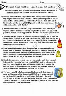 word problem decimals worksheets 11000 decimals word problems addition and subtraction from dayworks on teachersnotebook