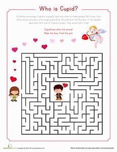 cupid maze worksheet education com
