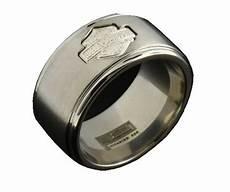 harley davidson wedding rings for men harley davidson ster men s grooved bar shield titanium ring tr374n ebay