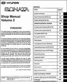 service manuals schematics 1992 hyundai sonata auto manual 1997 hyundai sonata repair shop manual original 2 volume set