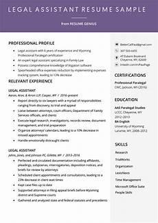 legal assistant resume exle writing tips resume genius