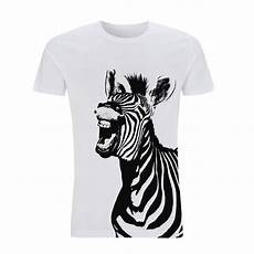 mens organic vegan zebra tshirt by jolly