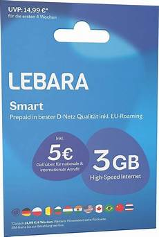 Beste Prepaid Karte - lebara prepaid karte 187 prepaid smart 171 kaufen otto