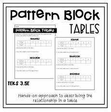 patterns extending tables worksheets 265 determining patterns in tables using pattern block function input output tables pattern