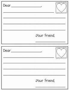 postcard template preschool letter writing template freebielicious
