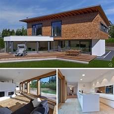 garage innen mit holz modernes pultdachhaus mit holz putz glas fassade bauen