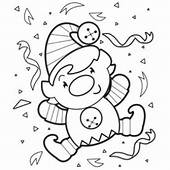 Time Christmas Elf Print Coloring Pages Free Printable