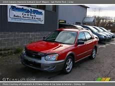 san remo 2004 subaru impreza outback sport wagon gray interior gtcarlot com vehicle