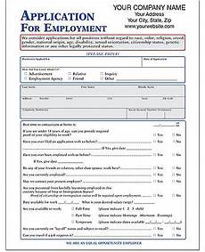 employment application imprinted form amsterdam printing