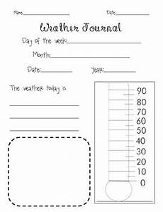 weather journal page with thermometer by tpt