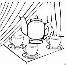 Malvorlagen Tassen Kostenlos Teekanne Mit Tassen Ausmalbild Malvorlage Mode Und Kunst