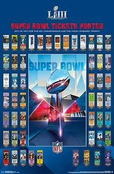 super bowl liii atlanta 2019 official super tickets game history poster trends international