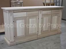 credenze legno grezzo mobili lavelli credenza in legno grezzo
