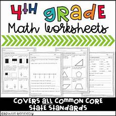 division worksheets 4th grade common 6676 4th grade common math worksheets by kristin kennedy tpt
