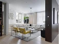 Wohnzimmer Design Retro Wohnidee Mit Gelben St 252 Hlen