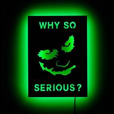 lighted batman joker wall sign why so serious by halolights